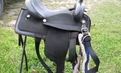 15 inch seat black wintec saddle for sale asking 300 obo